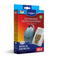 Фильтр Topperr 1002 BS 3, для пылесоса BOSCH-SIEMENS (Тип P), 4 шт.в ед. (с)